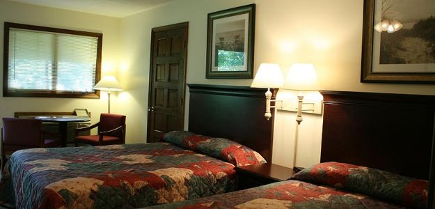 Hotel Room with two twin beds
